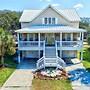 1 Block To Beach! Ocean-view Oak Island 4 Bedroom Home