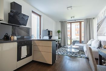 Sunny apartment with big private terrace & BBQ
